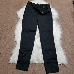 NWT H&M High Waist Shimmer Ankle Black Pants 10